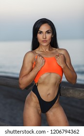 Fitness girl posing 