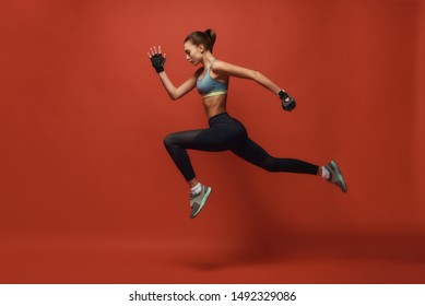 Fitness for Health Resolution. Sportswoman having work out