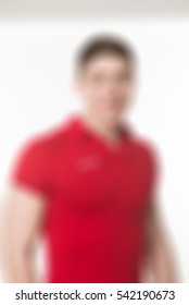 Fitness instructor corporate photoshoot theme creative abstract blur background with bokeh effect