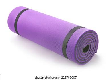 fitness insulation mat on white