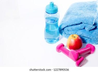 Fitness, keep fit, sports utensils