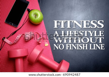 Fitness Lifestyle Without No Finish Line Stock Photo Edit Now