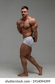Fitness male model in studio