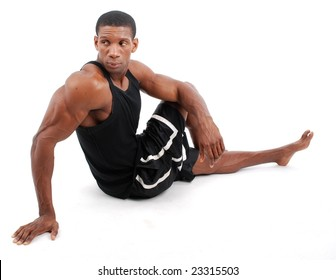 Fitness man stretching