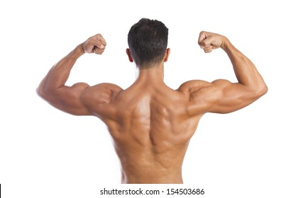 fitness muscled man back