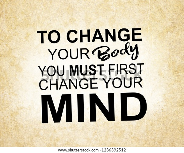 Fitness Quotes Gym Workout Motivation Health Stock Photo Edit Now 1236392512