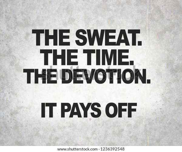 Fitness Quotes Gym Workout Motivation Health Stock Photo ...