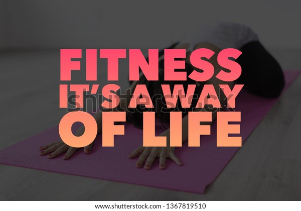 Fitness Quotes Gym Workout Motivation Health Stock Photo Edit Now 1367819510
