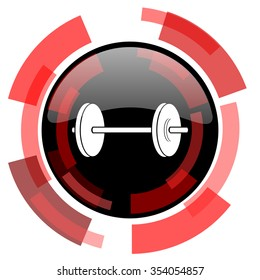 fitness red modern web icon