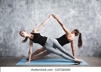 Partner Yoga Images Stock Photos Vectors Shutterstock