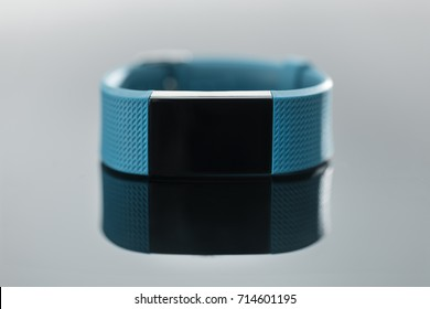 Fitness tracker on reflective surface