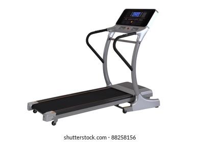 Fitness Walking Machine isolated on white background