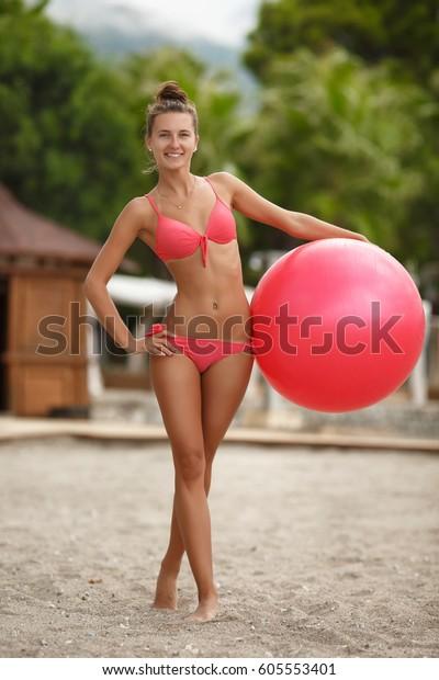 Ball Bikini Stock Woman Now605553401 Fitness Model Photoedit Fit txshQrCd