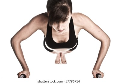 Fitness woman doing a pushup