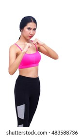 Fitness woman doing stretching exercise concept