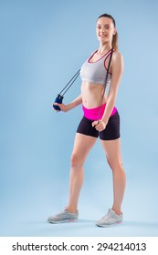 Fitness Woman With Jumping Rope