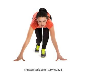 Fitness woman start running
