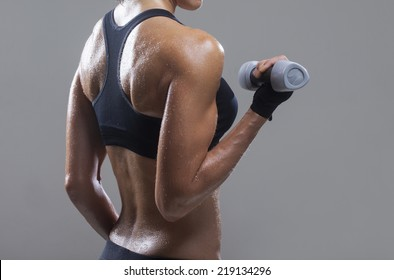 Fitness woman at training