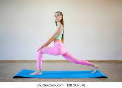 Fitness woman, young beautiful sportive girl