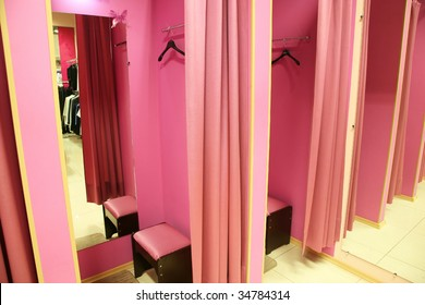Fitting room in a modern boutique