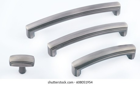 fittings for furniture. Handles for cabinets on a white background