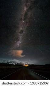 fitz roy astrophotography in el  chalten argentina