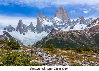 Fitz roy mountain in el chalten, Patagonia argentina