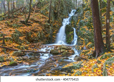 Fitzgerald Falls In Autumn This beautiful waterfall located in Orange County, NY can be easily accessed from the Appalachian Trail.
