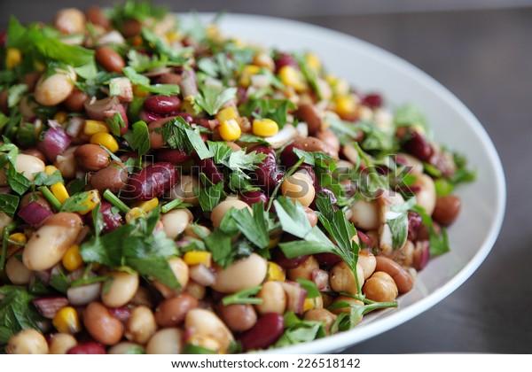 Five bean salad