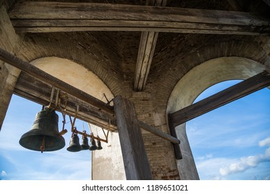 Five bells on bell tower of church