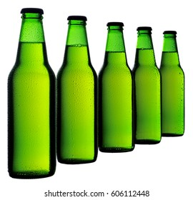 FIVE BOTTLES OF BEER CUT OUT