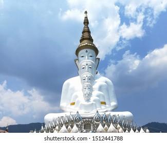Five Budha at Pha sorn kaw temple,Pethchaboon province
