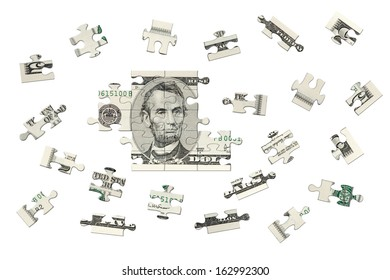 Five dollars jigsaw