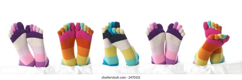 Five feet in stockings