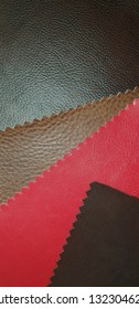 five leather colors sample