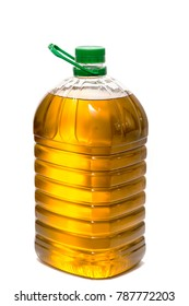 Five litre of olive oil bottle isolated on a white background.