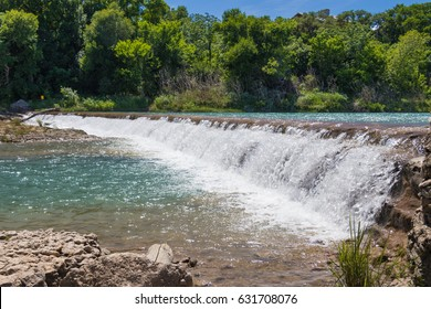 Five Mile Dam on the Blanco River near San Marcos Texas