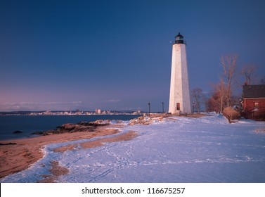Five Mile Point during the winter- New Haven