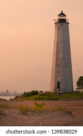 Five Mile Point lighthouse, inside Lighthouse Point Park, was a favorite walk for actress Katherine Hepburn who lived nearby.