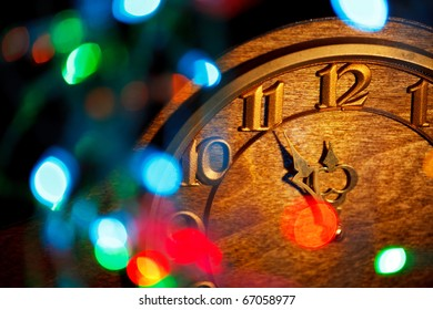 five minutes to New Year