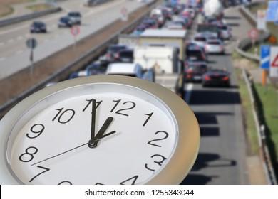 Five minutes to twelve: Road traffic