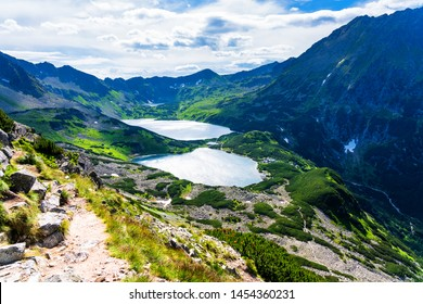 Five Ponds Valley. The High Tatras Mountains (Vysoké Tatry, Tatry Wysokie, Magas-Tátra), are a mountain range along the border of Slovakia and southern Poland in the Lesser Poland Voivodeship.