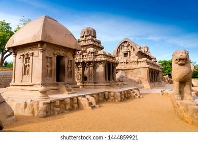 Five Rathas, Mahabalipuram, Tamil Nadu, India.