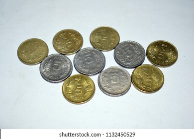 five rupees coin images