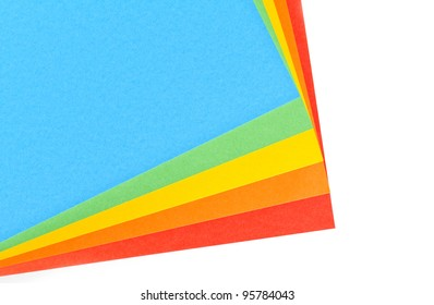 Five sheets of colored paper