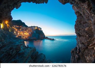 five terre manarola  la spezia liguria italian coast italy europa