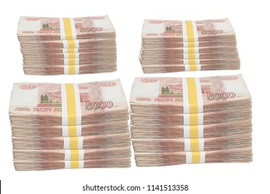 Five thousands rubles stack with Tape