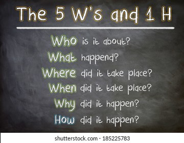 The five Ws and one H