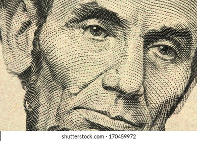 Five-dollar bill closeup