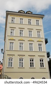 Five-storey house - an example of historical buildings of the European city.